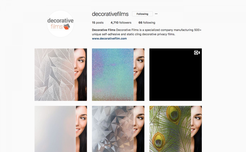 Follow Decorative Films now on Instagram