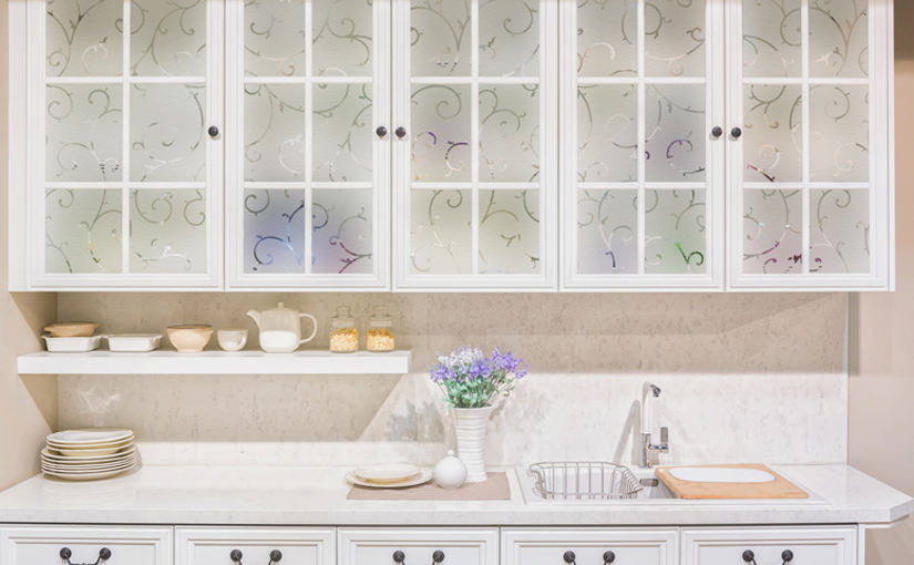 Decorative Films DIY Inspiration – Add Style and Privacy to Kitchen Windows and Glass Cabinet Doors