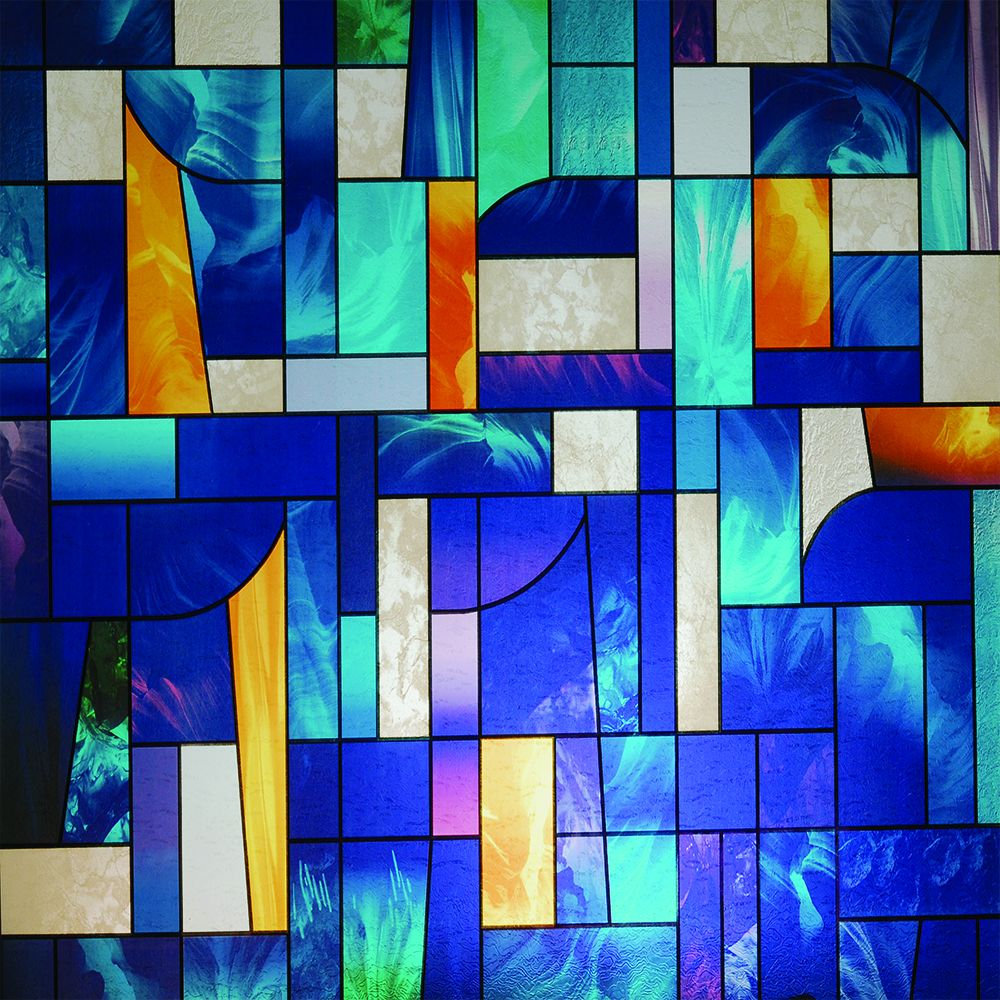 stained glass abstract tiles - photo #32