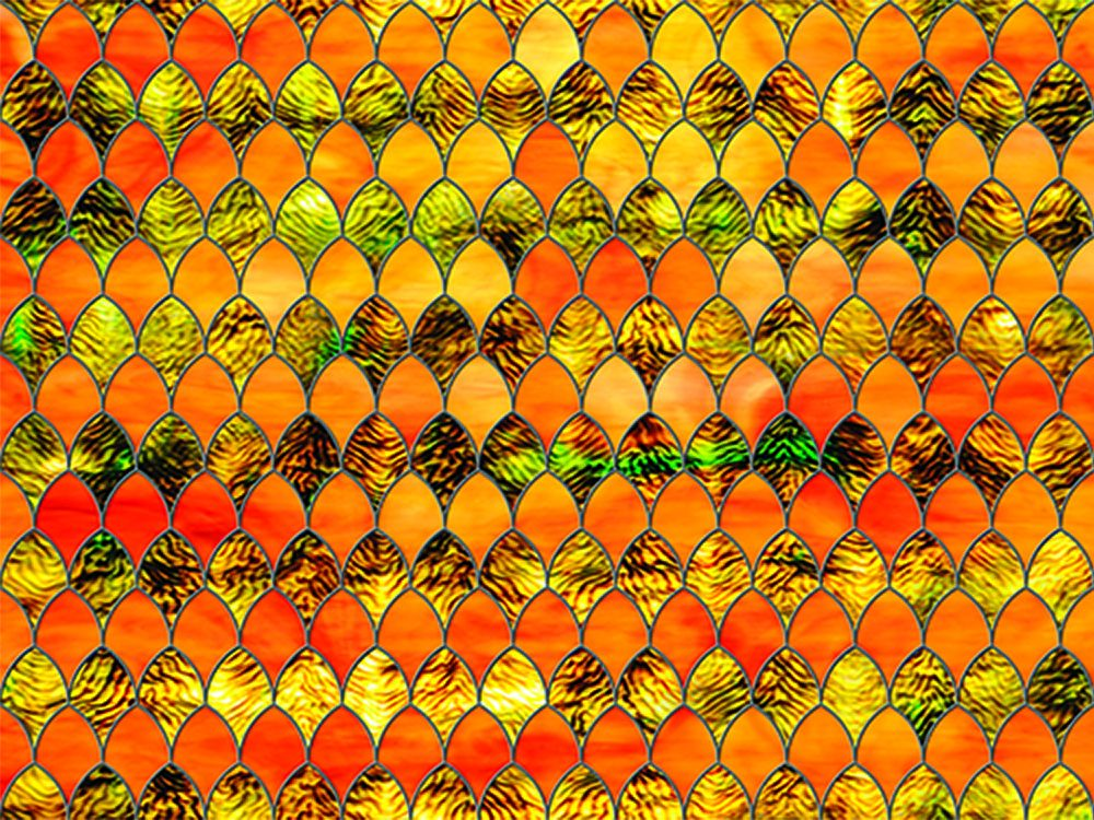 Sxrr 9011 T Tangerine Stained Glass Transparent