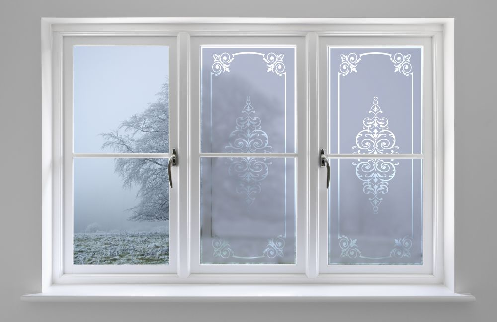 Victorian frost decorative films llc for Decorative window film stained glass victorian